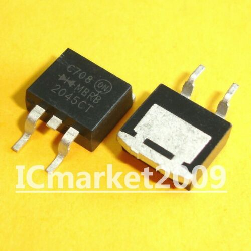 10 PCS MBRB2045CT TO-263 MBRB2045 MBRB 2045CT Dual Schottky Barrier Rectifiers