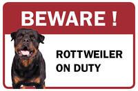 Rottweiler Beware Business Store Retail Counter Sign