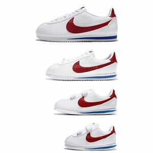 Details about Nike Classic Cortez Leather OG Family Size White Red Blue  Lifestyle Shoes Pick 1 5c7b34923