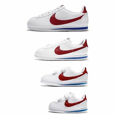 size 40 bf0dd 6e293 Nike Classic Cortez Leather OG Family Size White Red Blue Lifestyle Shoes  Pick 1 | eBay