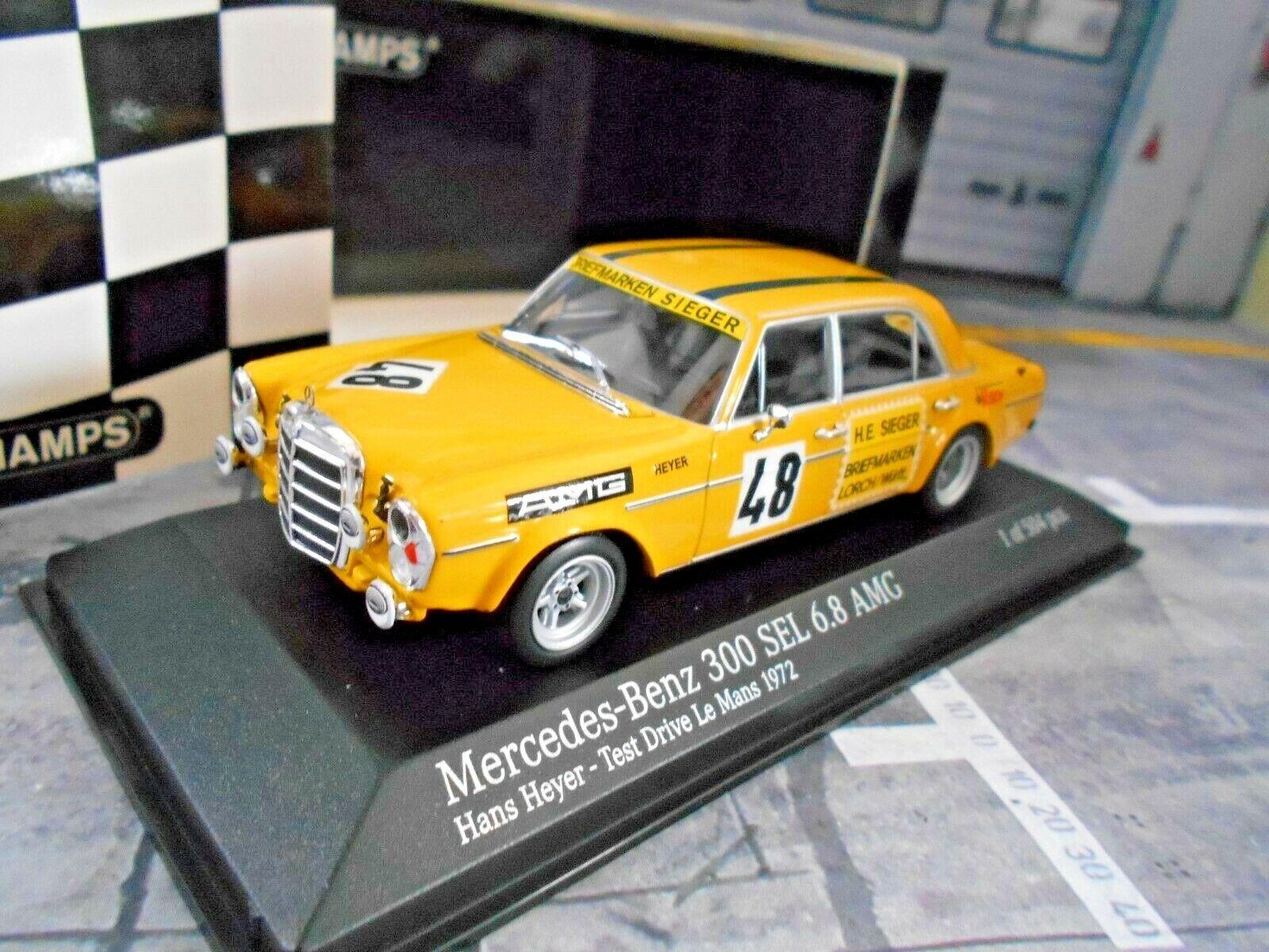 envio rapido a ti Mercedes Benz 300 sel 6.8 AMG test test test le mans 1972  48 Heyer victoria Minichamps 1 43  Seleccione de las marcas más nuevas como