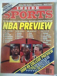 Inside Sports Magazine Michael Jordan Larry Bird November 1988 051019nonrh