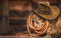 Cowboy Hat & Lasso Counted Cross Stitch Pattern