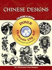 Chinese Designs CD-ROM and Book (Black-And-White Electronic Design)-ExLibrary