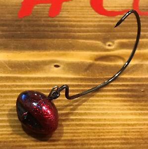 4//0 GAMAKATSU Hook Biffle Head 10pk 1//4oz Black Money Maker Football Swing Jig