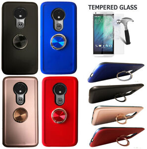 For Moto G7 Power Phone Case G7 Supra Shock Absorbing Cover Ring Chrome Stand Ebay