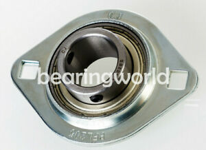 "SBPFT205-14 NEW 7//8/"" Set Screw Pressed Steel Triangle 3-Bolt Flange Bearing"