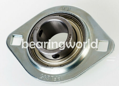"NEW SBPFL204-12 High Quality 3//4/"" Set Screw Pressed Steel 2-Bolt Flange Bearing"