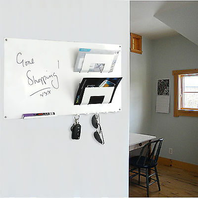 Wall Mounted Magnetic Memo Board Letter Rack and Key Holder by THE METAL HOUSE