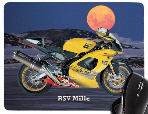 Mauspad mit Motorrad Motiv Aprilia Modelle Mousepad Handauflage Bike Biker