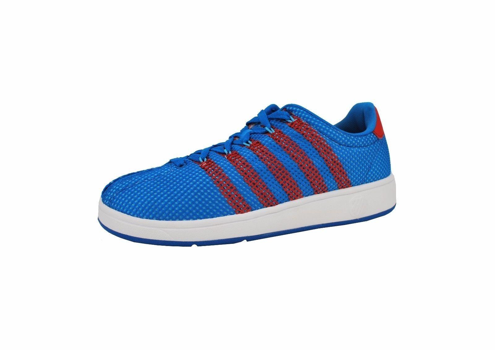 K-Swiss Scarpe Classic VN OM Uomo Court Style Scarpe da Ginnastica Blue Red 03411482