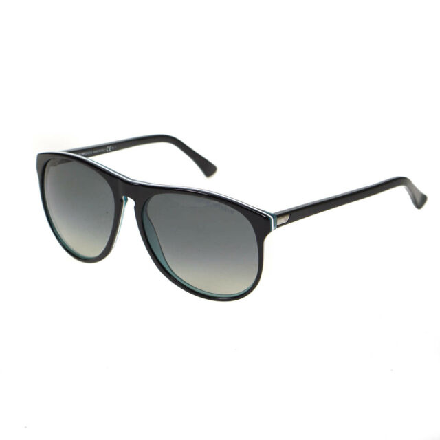 be06f10d9b Emporio Armani Wayfare Mens Retro Sunglasses Black Frame with Case EA9801 S