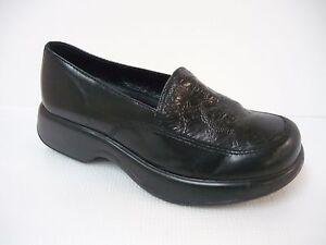 Dansko-Professional-leather-Nurse-Clogs-Size-38-EU-7-5-8-US-Cabrio-Black