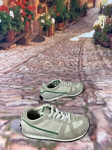 DIESEL-BERN-Men-039-s-Shoes-Sz-9-Suede-amp-Leather-Beige-Green