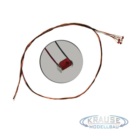 KM0069 5 Stück SMD LED 0603 rot diffus mit Kupferlackdraht 0,15mm Modellbahn