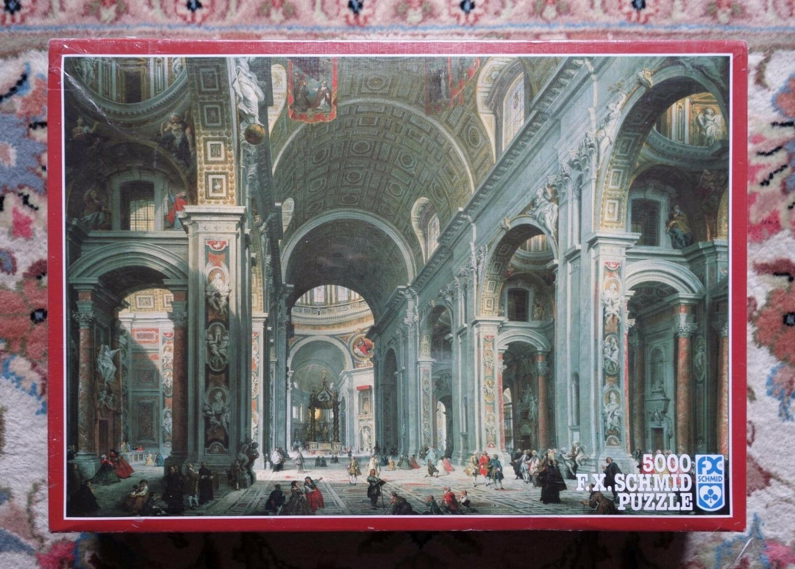 5000 piece F.X. Schmid puzzle, St. Peter's Cathedral, by Pannini, Factory Sealed