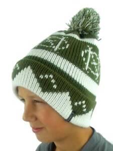 O'Neill Pompom Hat Winter Hat Beanie Billboard Green Norwegian Pattern