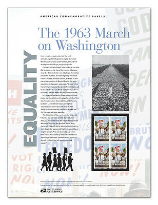 USPS New The 1963 March on Washington Commemorative Panel