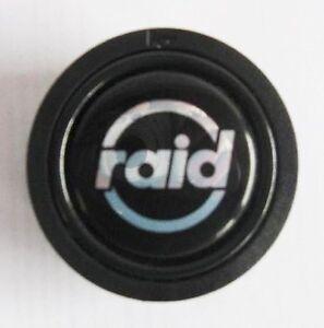 Raid-Hupenknopf-versenkt-mit-RAID-Logo-fuer-Sportlenkrad-Sport-Lenkrad-Hupe-Knopf