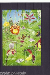 France-034-BUTTERFLIES-FLOWERS-ORCHIDS-034-MNH-MS-2005