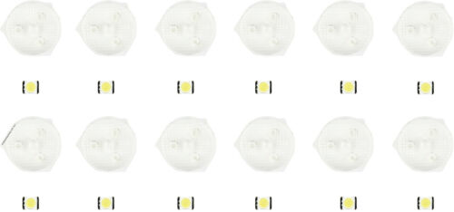 Replacement LED and Diffusing Lens for LG//Samsung//Hisense LED strips set of 12