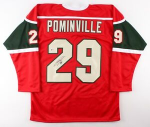 47401bbda30 Image is loading Jason-Pominville-Signed-Wild-Jersey-Beckett-COA-Playing-