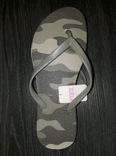 5//6 Victoria secret pink camo flip flops BRAND NEW SIZE small
