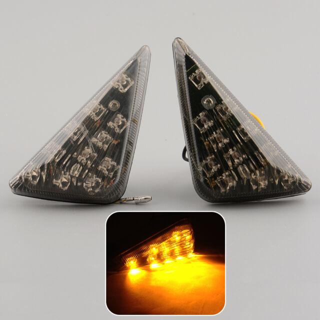 2x Motorcycle Motor Smoke Flush 11 LED Turn Signal Amber Light Indicator New