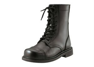 Black-Military-Leather-Tactical-Combat-Boot-9-034-GI-Type-STEEL-TOE-Rothco-5092