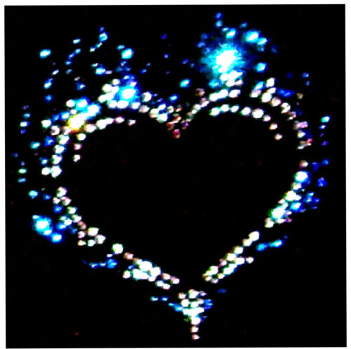 LADIES FLAMING BLUE HEART RHINESTONE DESIGN FITTED T SHIRT ANY SIZE 8 TO 18