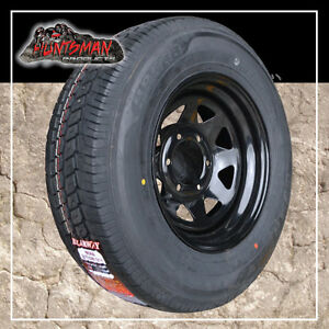 14-x-6-185-LT-6-Stud-Sunraysia-Wheel-Rim-amp-Tyre-Black-Caravan-Trailer-Landcruise