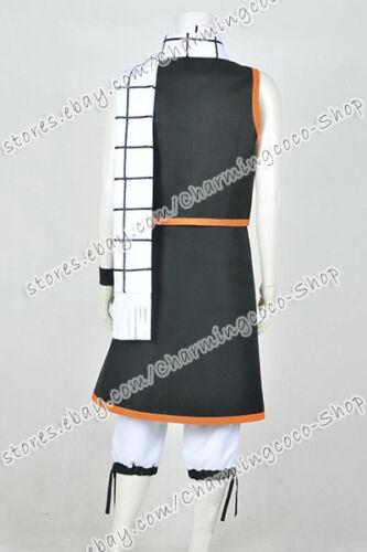 Fairy Tail Season 1 Cosplay Natsu Dragneel Costume Anime Party Whole Set Uniform