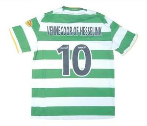 Celtic 2008-10 ORIGINALE HOME SHIRT HESSELINK #10 (eccellente) L soccer jersey