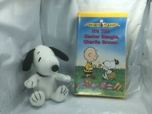 Peanuts-It-039-s-The-Easter-Beagle-Charlie-Brown-amp-Snoopy-Plush-Set-lot-bundle-of-2