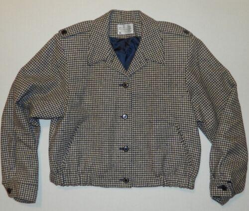 Jakke 100 Navy Plaid Pendleton Tan Houndstooth uld 14 kvinders Størrelse Savner YW8qZ1f