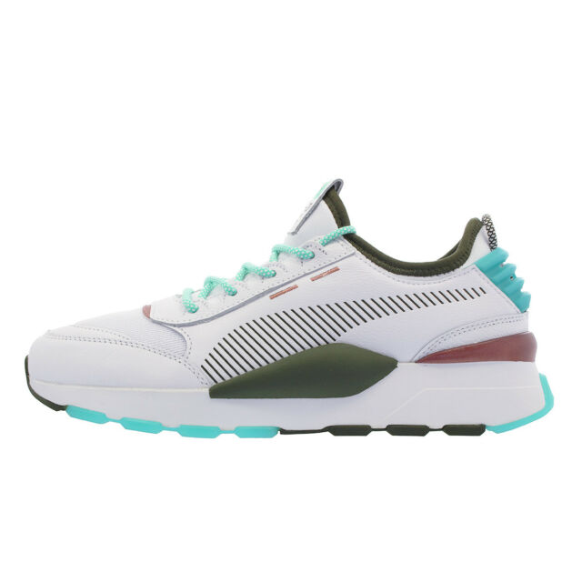 Puma Men's RS-0 x EMORY JONES Shoes Puma White/Biscay Green 368053-01 c