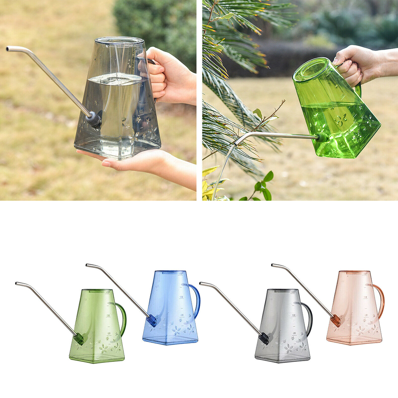 1.4L Plastic Large Scale Watering Can Planting Long Spout Garden Kettle