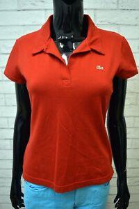 Polo-Donna-Maglia-LACOSTE-Taglia-40-Shirt-Manica-Corta-Jersey-Frau-Elastica