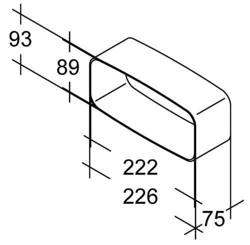 Bielmeier Canale Piatto-connettore esterno//System 150 optimairo//657005