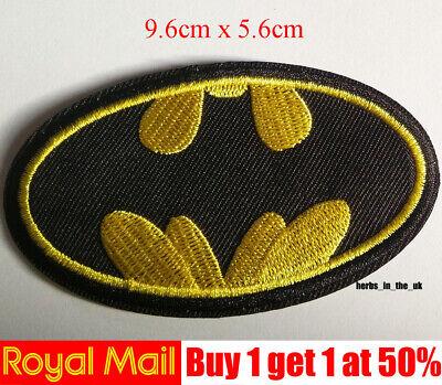 BATMAN LOGO DC COMICS Iron On Patch//TV Movie,Cartoons,