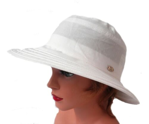 Damen Hut Leinenhut  Kofferhut Reisehut Sonnenhut Sonnenschutz faltbar Urlaub