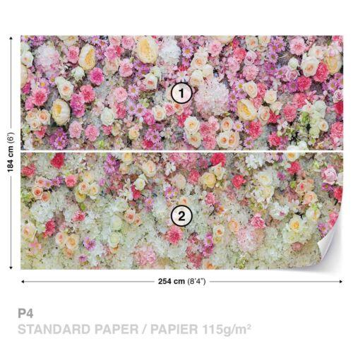 Tapete Vlies Papier Fototapete Natur Pflanzen Blumen pastellfarbene Blümchen