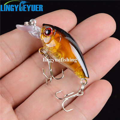 1PCS 4.5CM/4G  Crankbait Fishing Lures Shallow Water For Bass Fishing