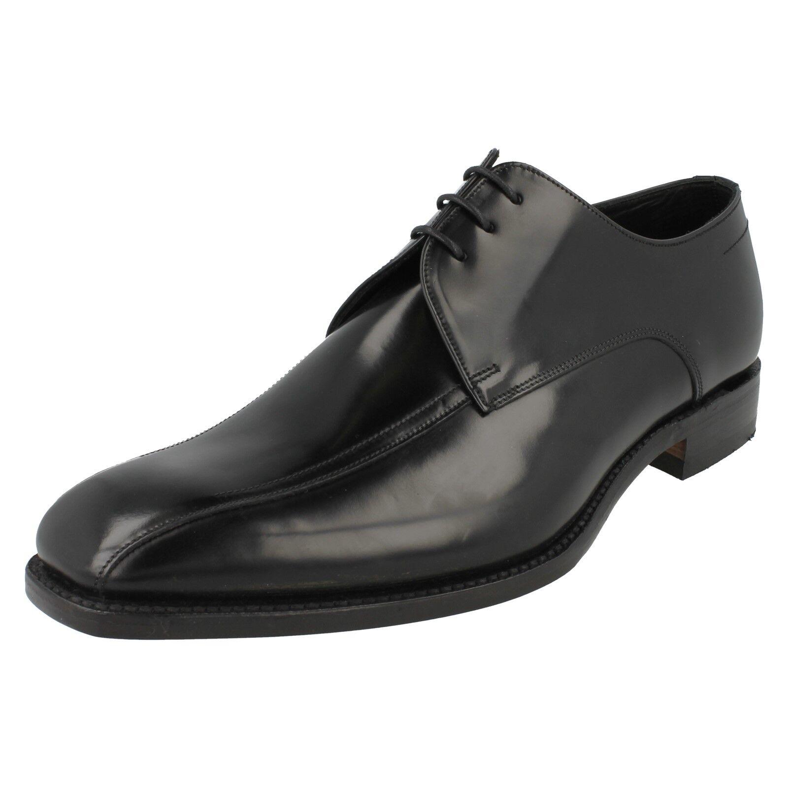 LOAKE MCQUEEN para hombre Negro Pulido Cuero acordonados formal Zapatos Talla Inteligente