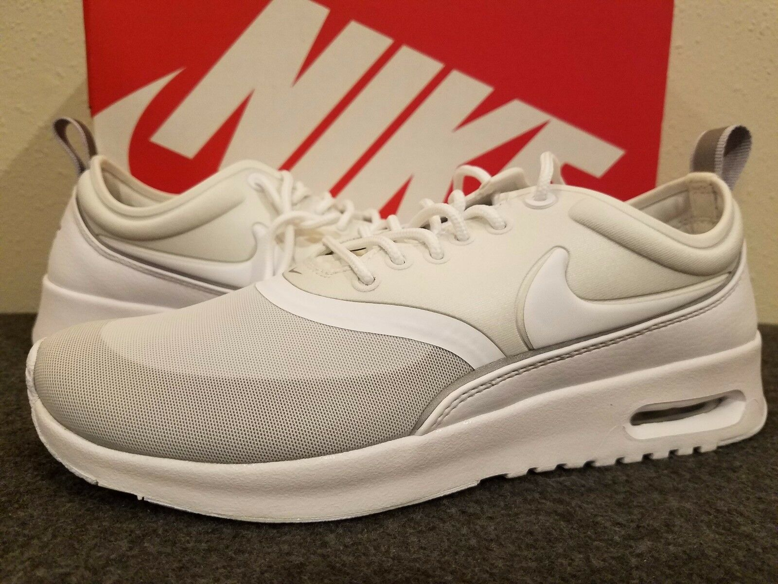 Women's Nike Air Max Thea Ultra Running Shoes White/Met Slv 844926 100  6 ~ 7.5