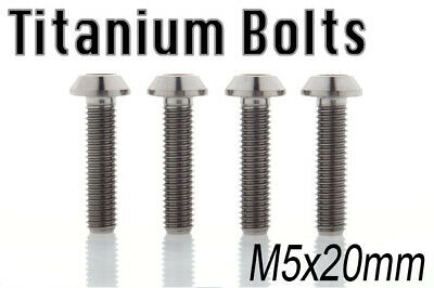 US Seller x4 Titanium Ti Bolt M5x25mm Tapered Head Hex M5 25L Bicycle Screw