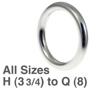 Nuevo Hm Plata 925 4,8 g señoras 3mm Halo anillo de boda h-q