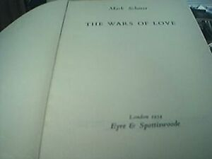 Schorer mark the wars of love hb book 1954 rare old book - Leicester, United Kingdom - Schorer mark the wars of love hb book 1954 rare old book - Leicester, United Kingdom
