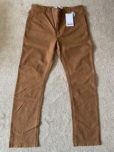 "Para Hombres Pantalones Jeans humör 'Wally's Sudán Marrón Pantalones Tamaño 34"" BNWT"