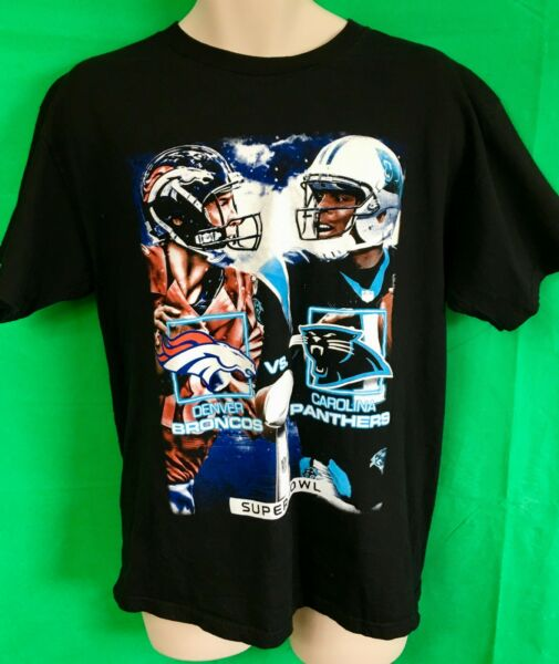 Brillante T49 Broncos Nfl/panthers Bowl 50 Con La Storia T-shirt By Alstars Uomo Usa L-rs Superbowl 50 With History T-shirt By Alstars Men's Us L